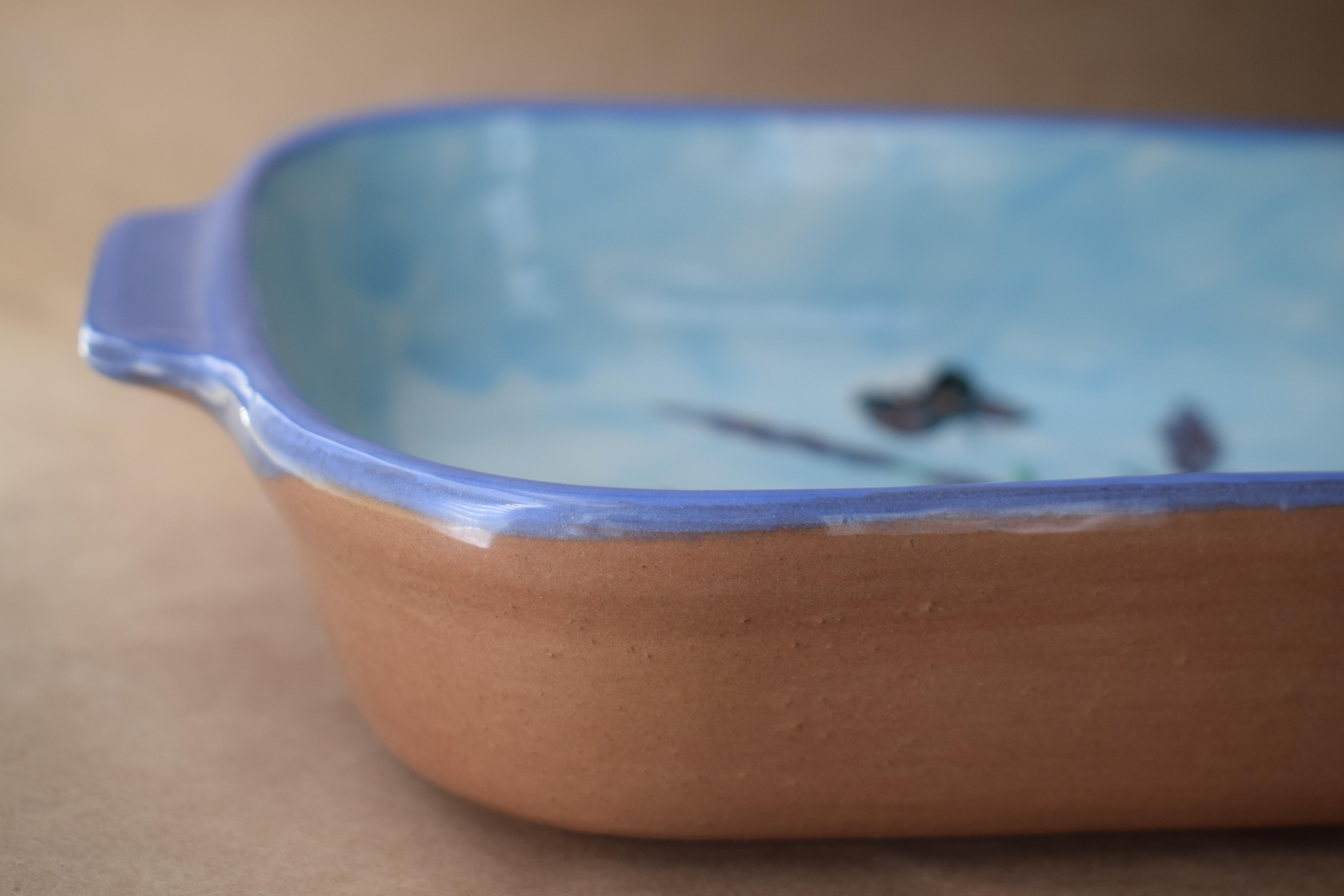 """(RBD11-EL) 11"""" Rectangular Baking Dish- English Lavender"""