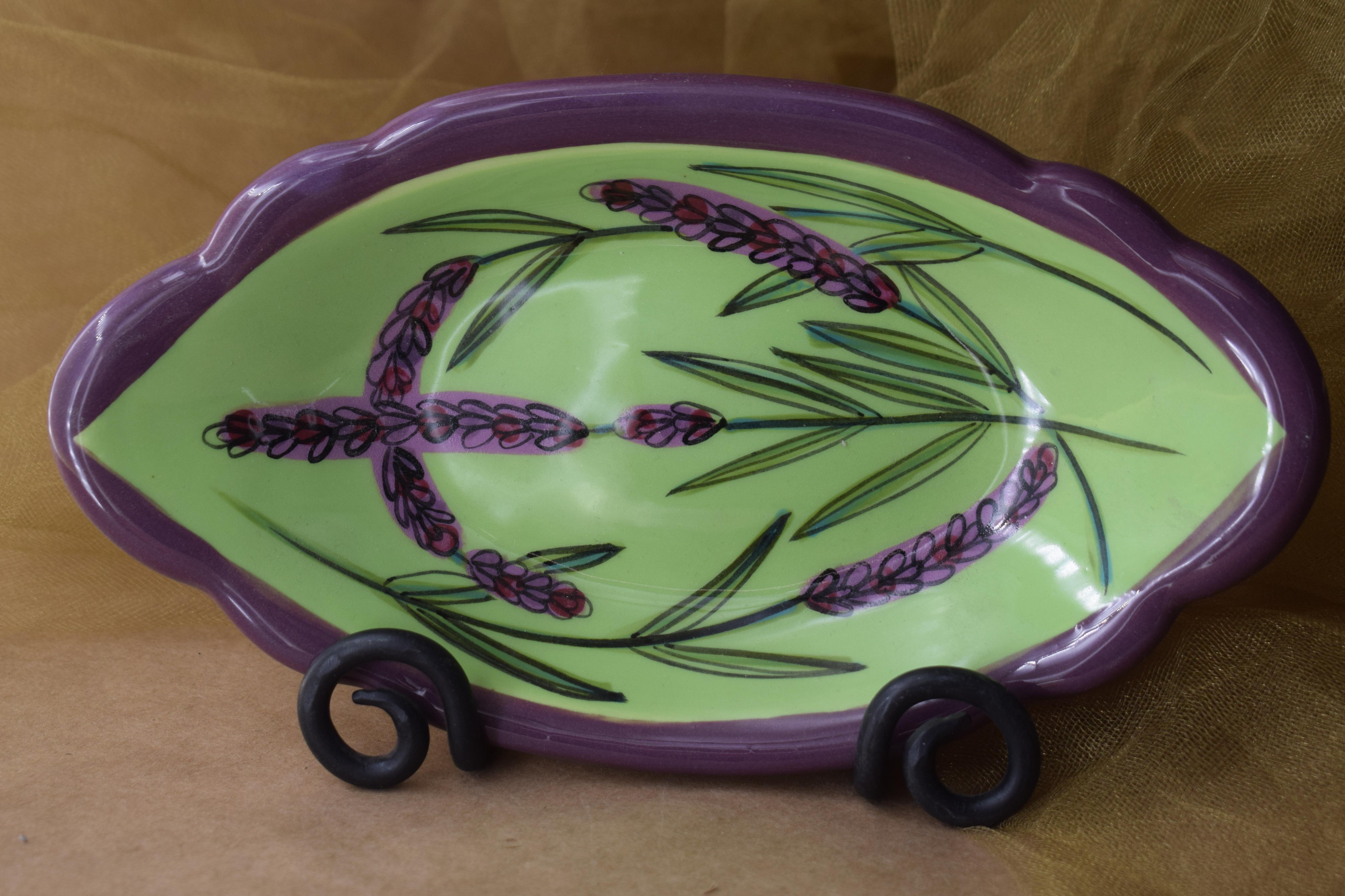 "(RF08-GL) 8""x5"" Queso Fundido- Green Lavender"