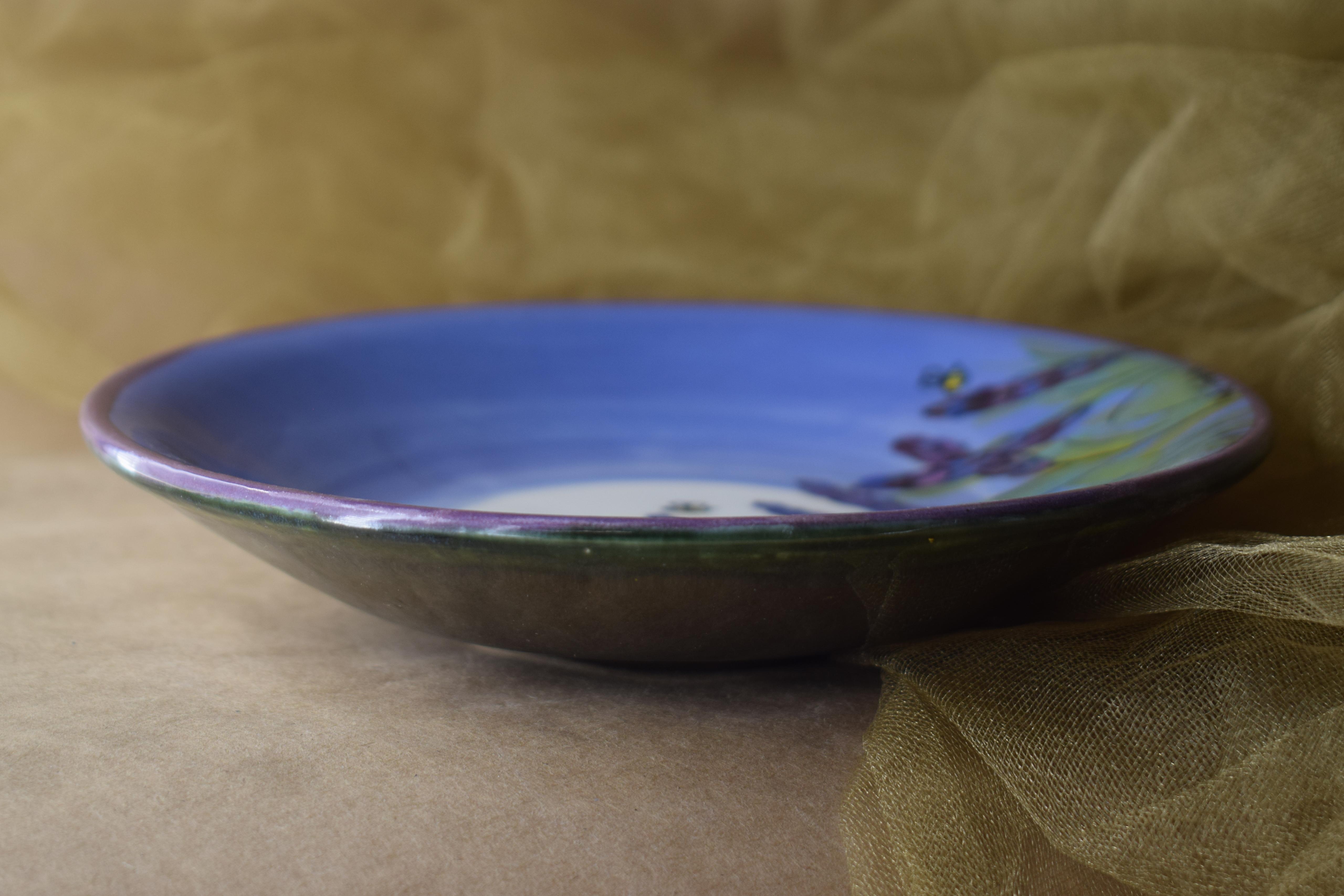 "(SP12-LM) 8"" Salad Plate- Lavender Moon"