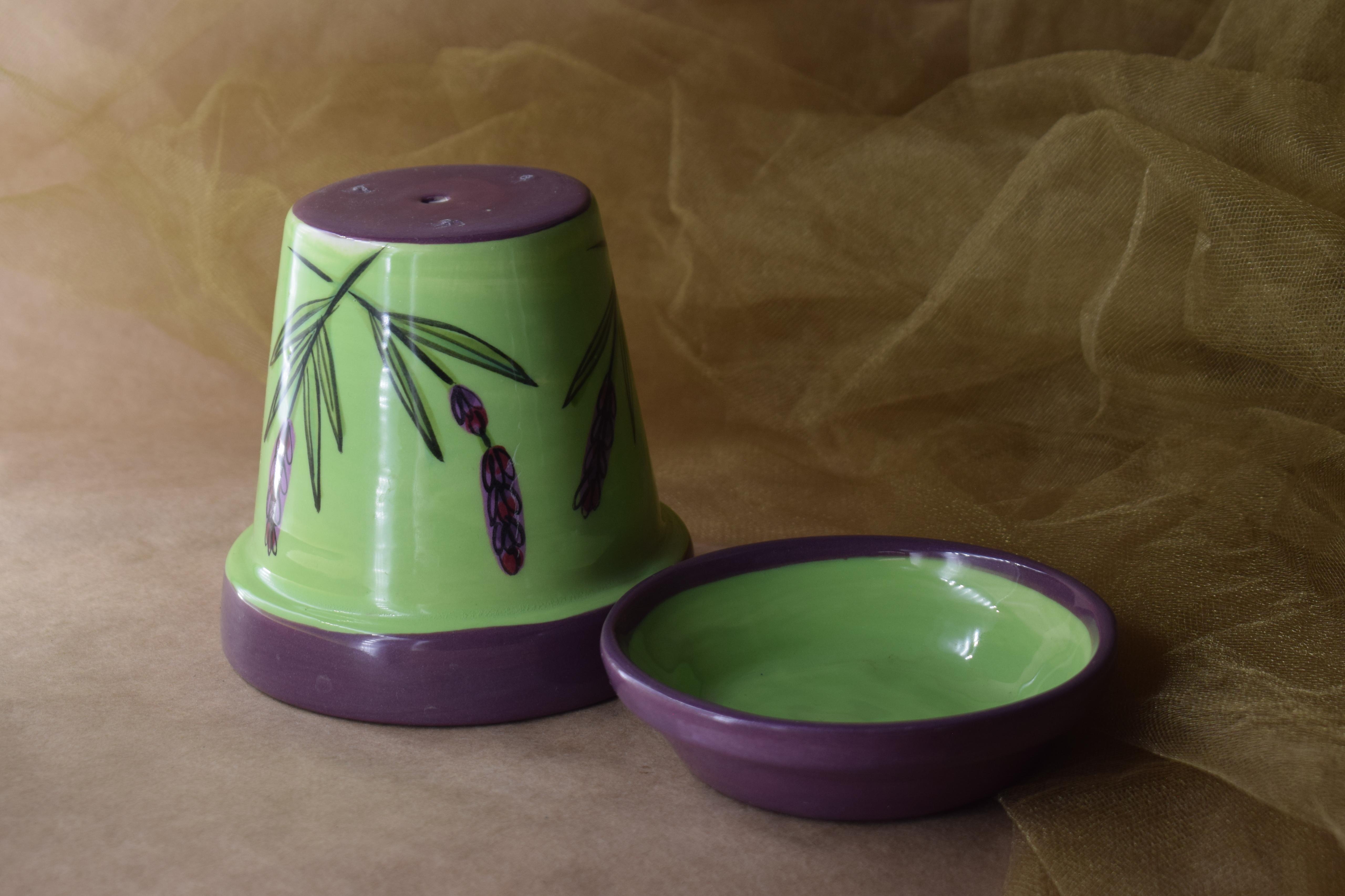 """(PL05-GL) 5"""" Planter- Green Lavender"""