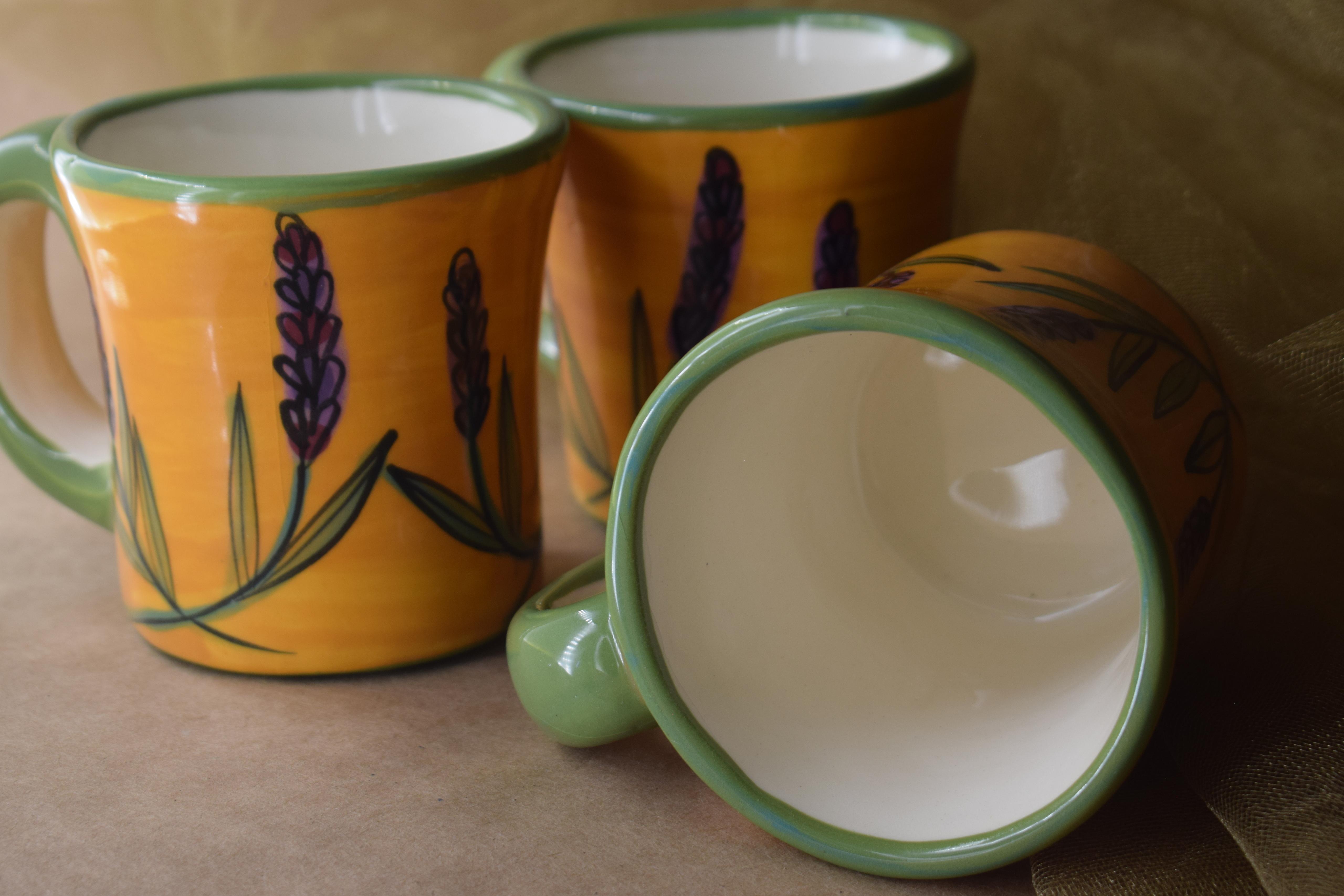 (SM08-YL) Small Mug- Yellow Lavender