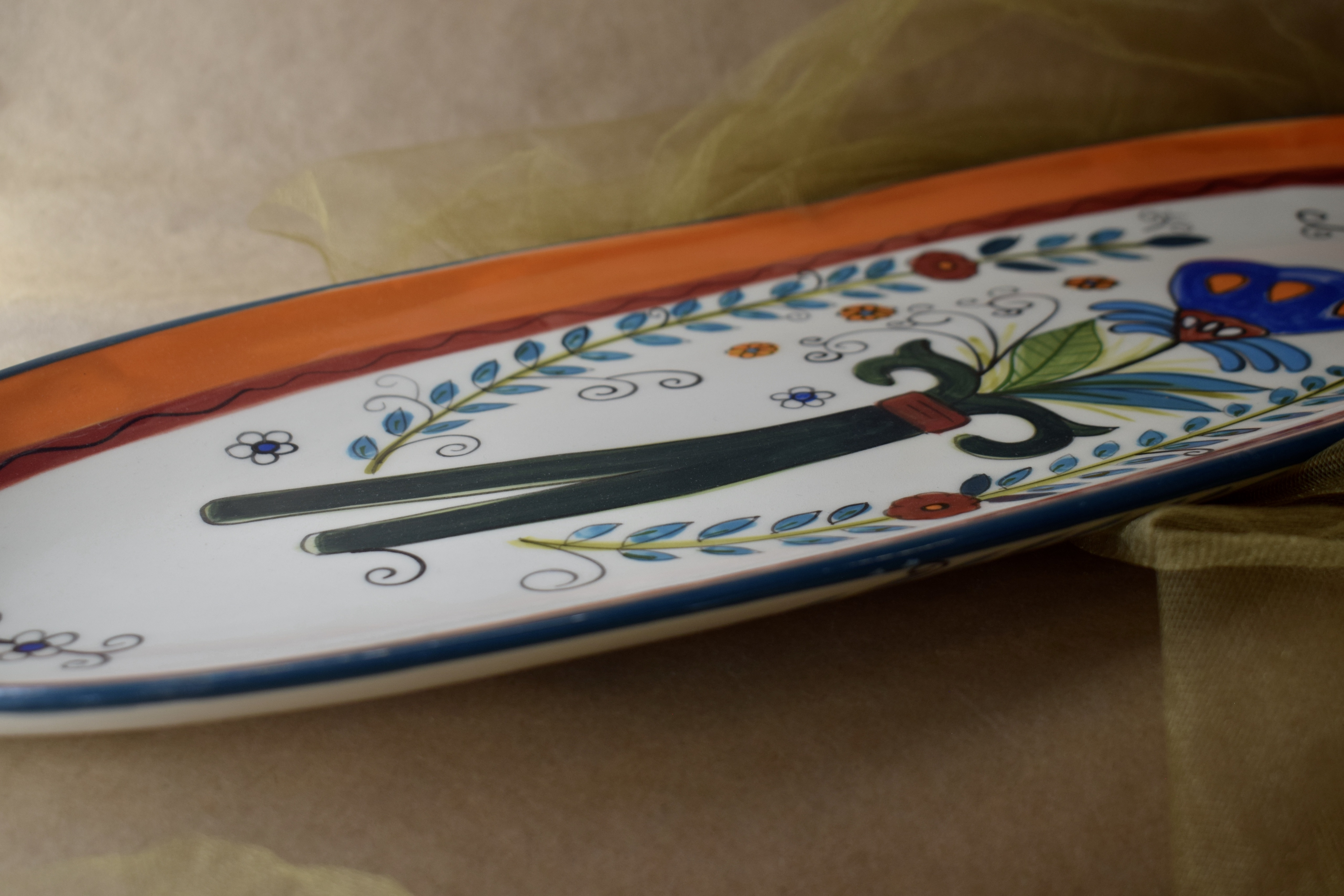 "(OP21-MNC) 21"" Oval Platter- Mandarino"