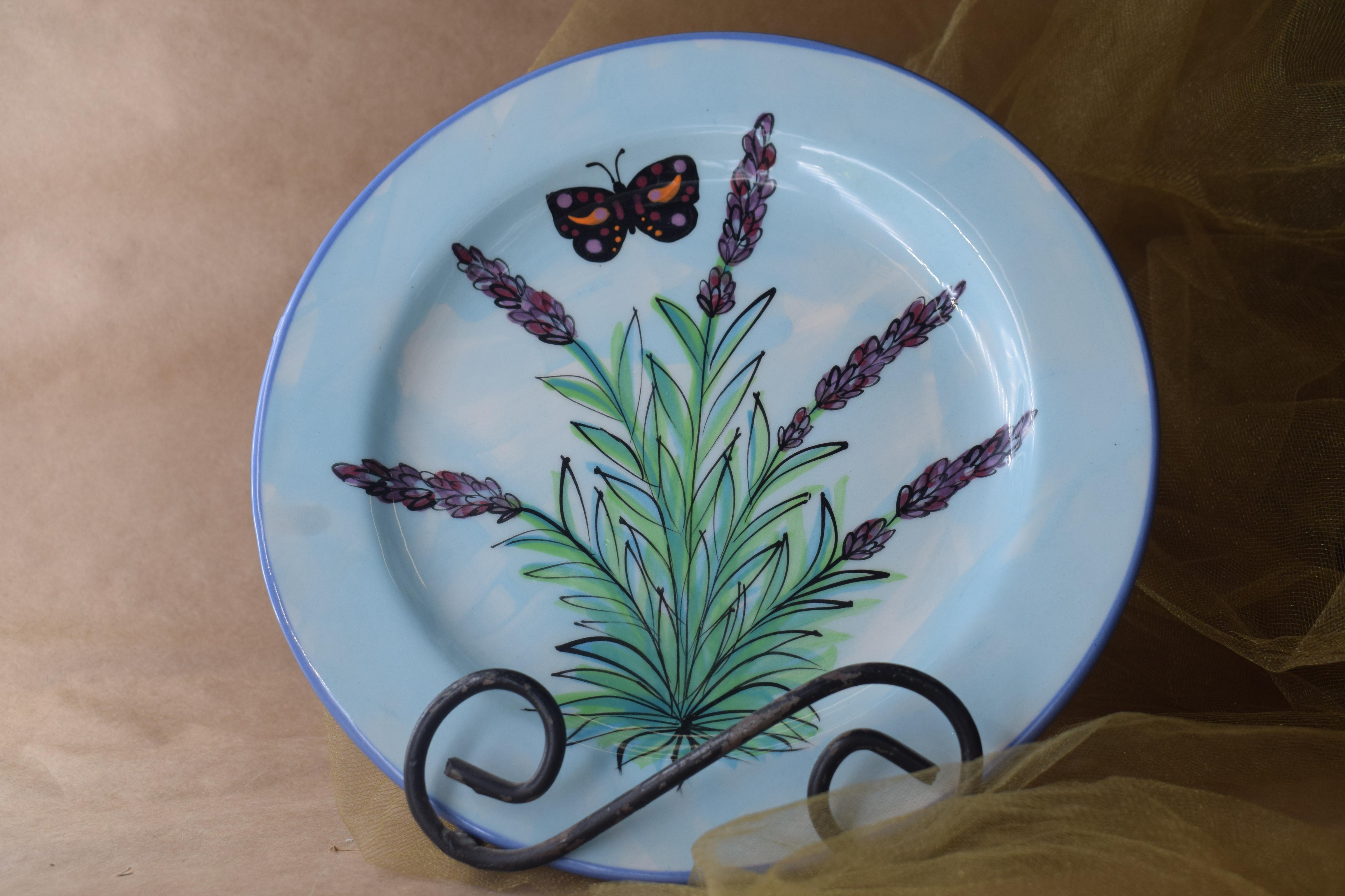 "(DP08-EL) 8"" Dinner Plate- English Lavender"