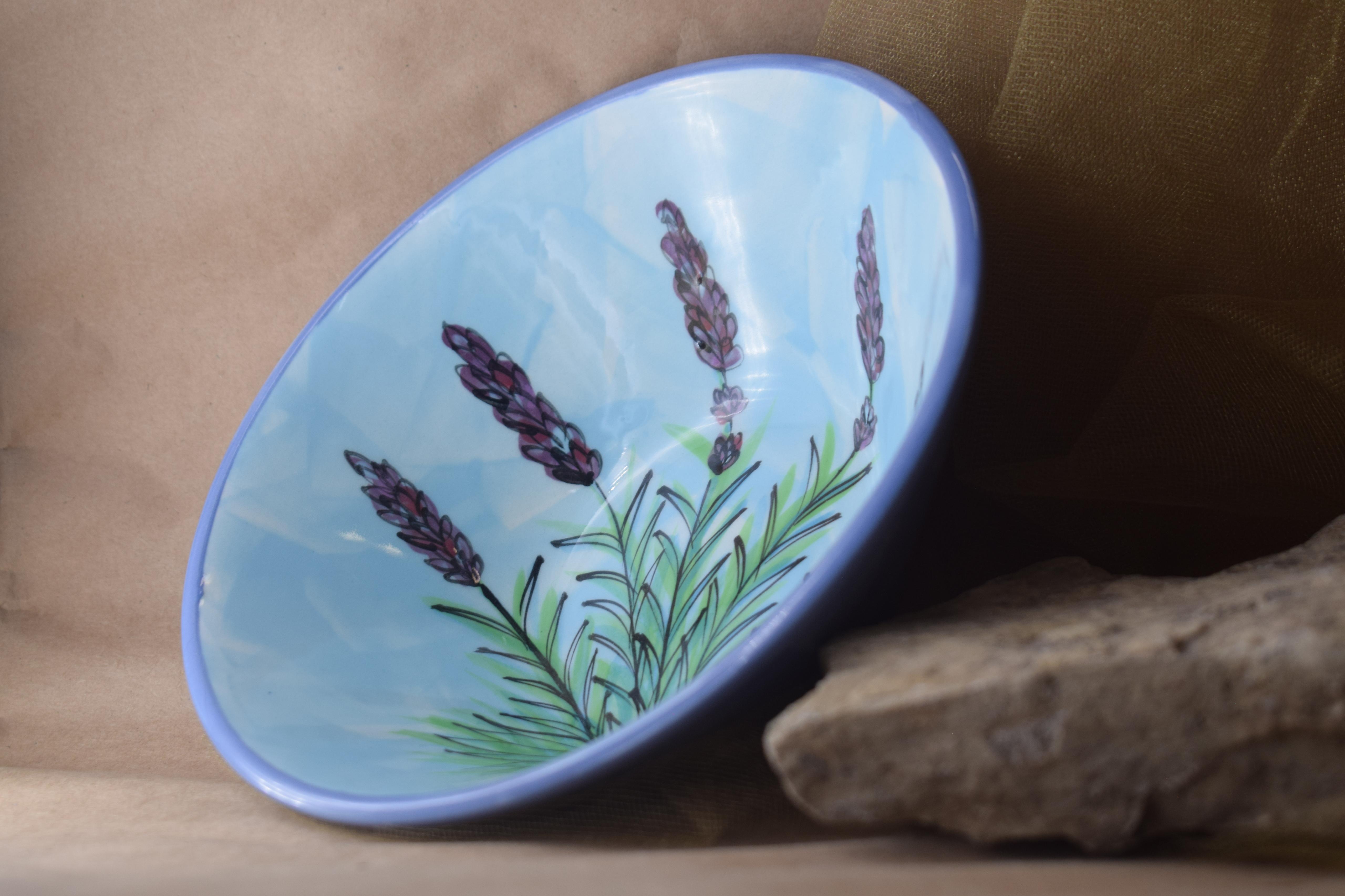 "(RB07-EL) 7"" Ramen Bowl- English Lavender"