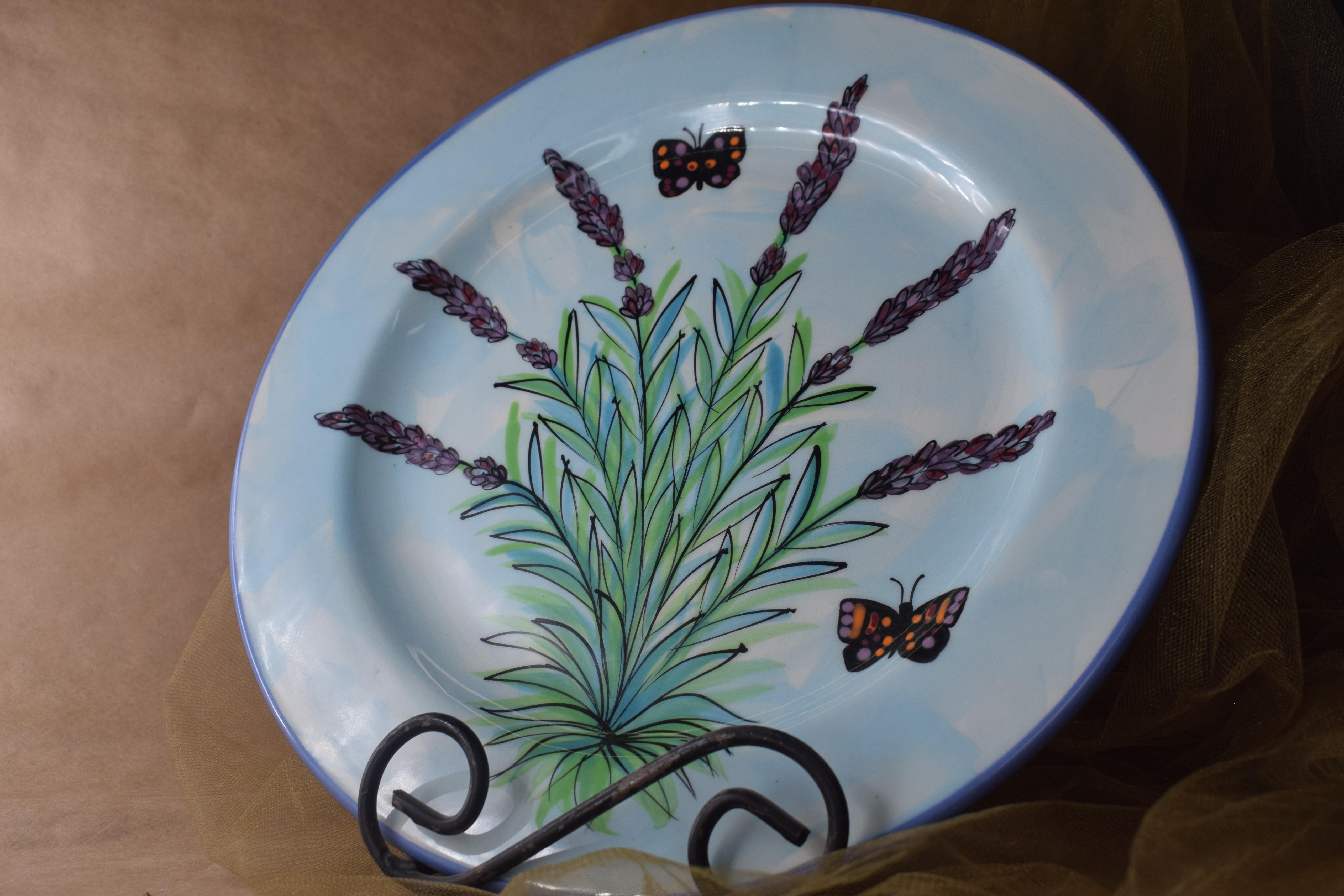 "(DP12-EL) 12"" Dinner Plate- English Lavender"