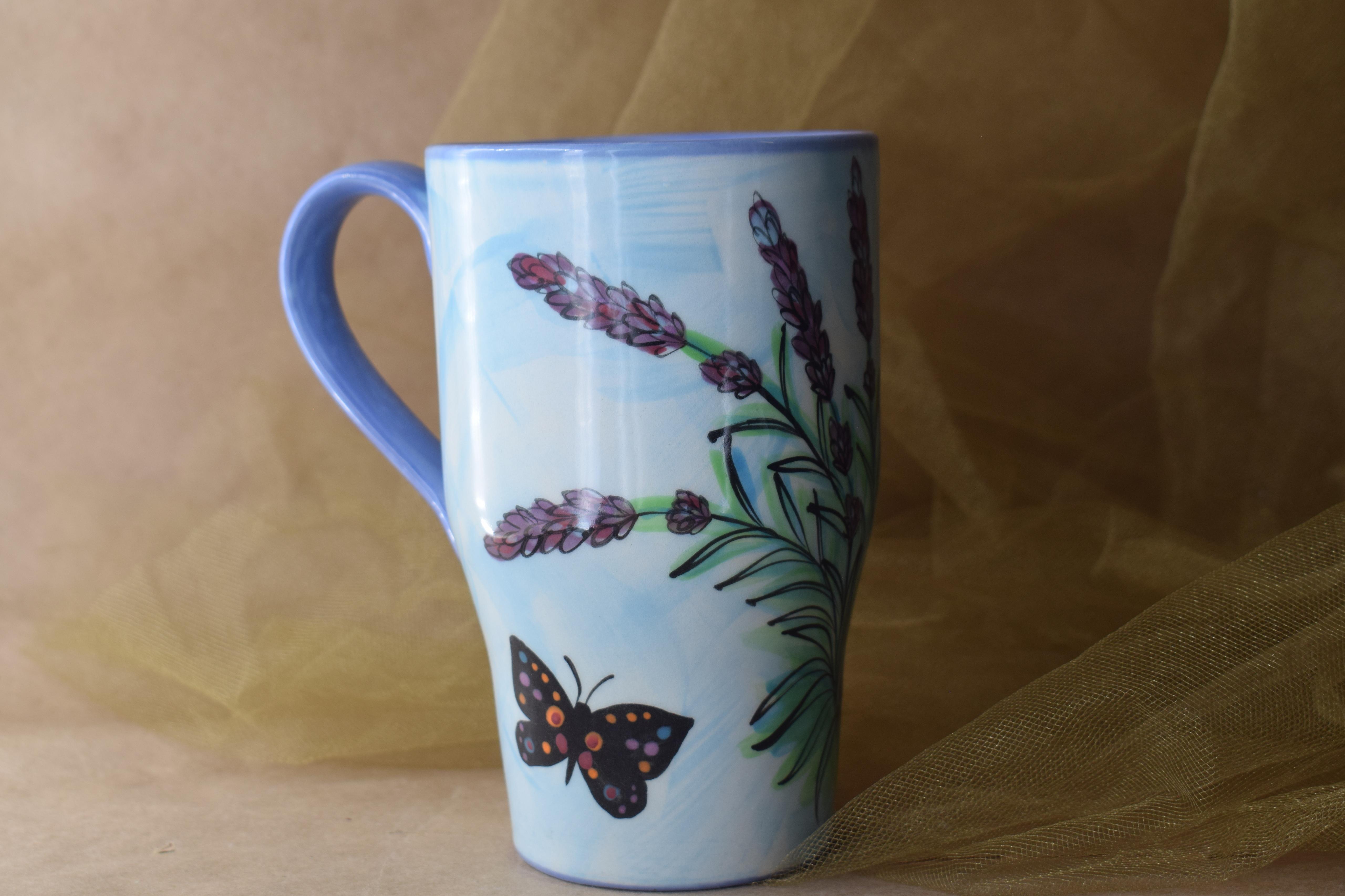 (TM08-EL) Tall Mug-English Lavender