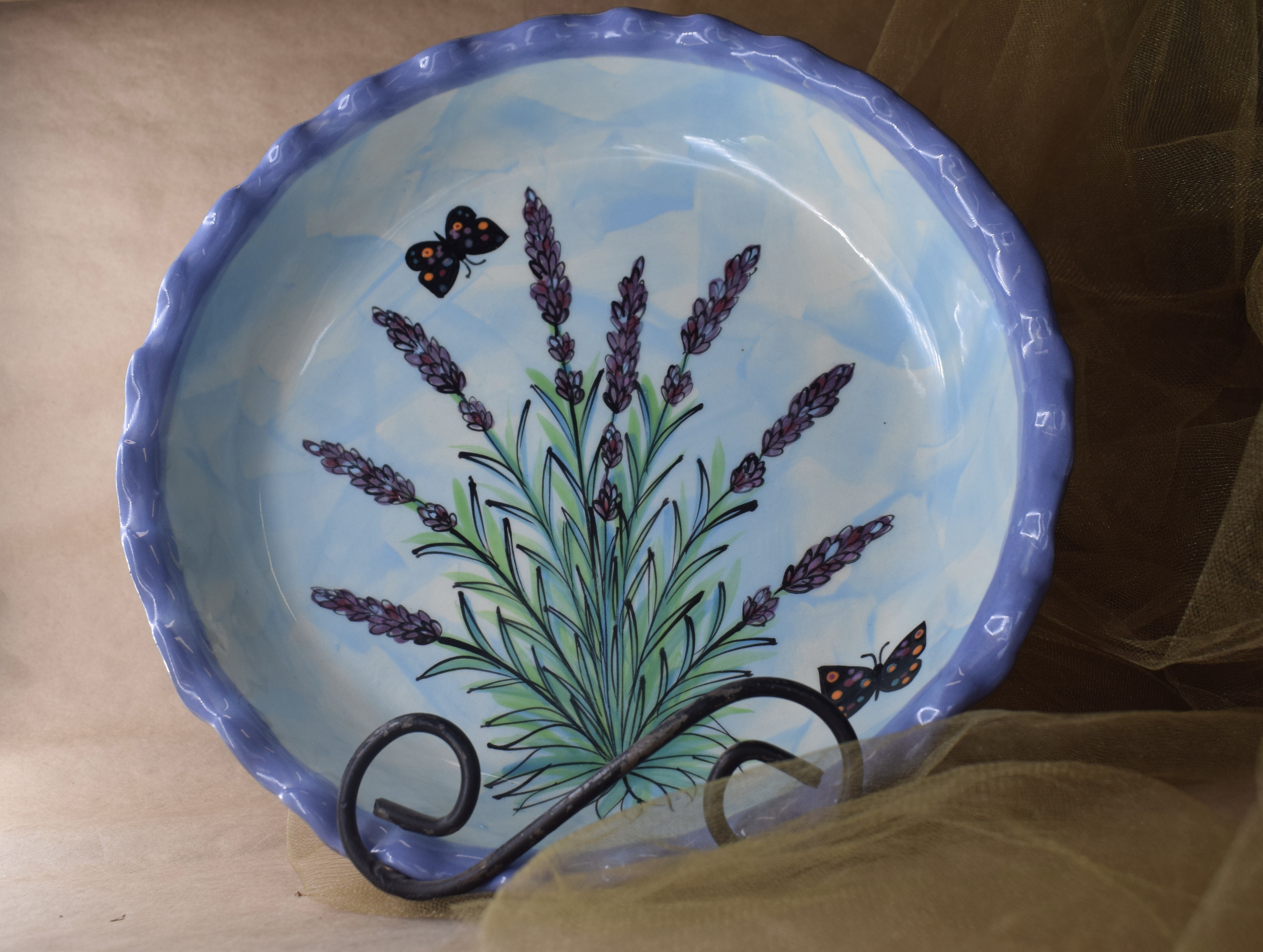 "(RPP11-EL) 10"" Pie Plate- English Lavender"