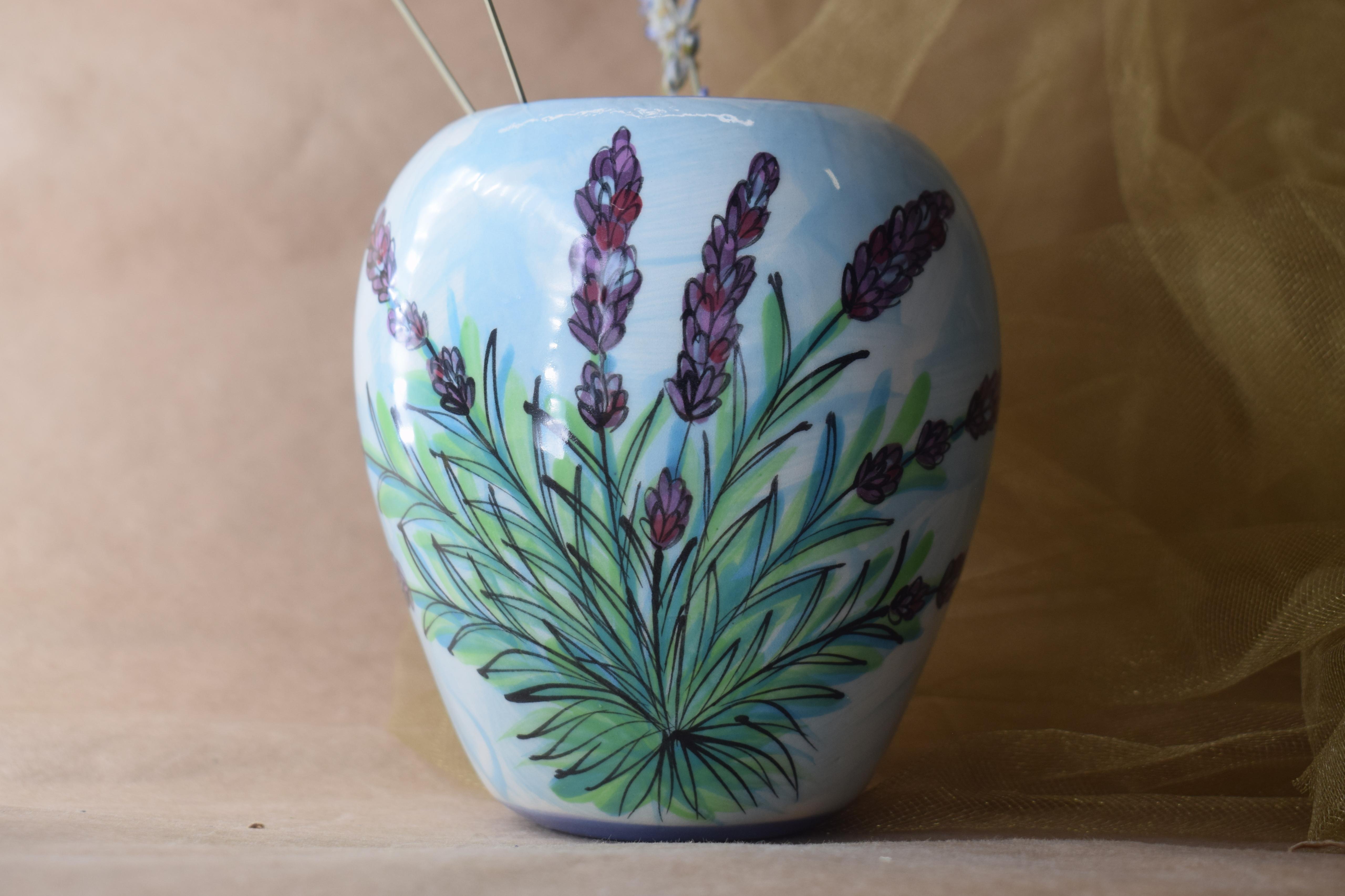 (SV21-EL) Small Vase- English Lavender
