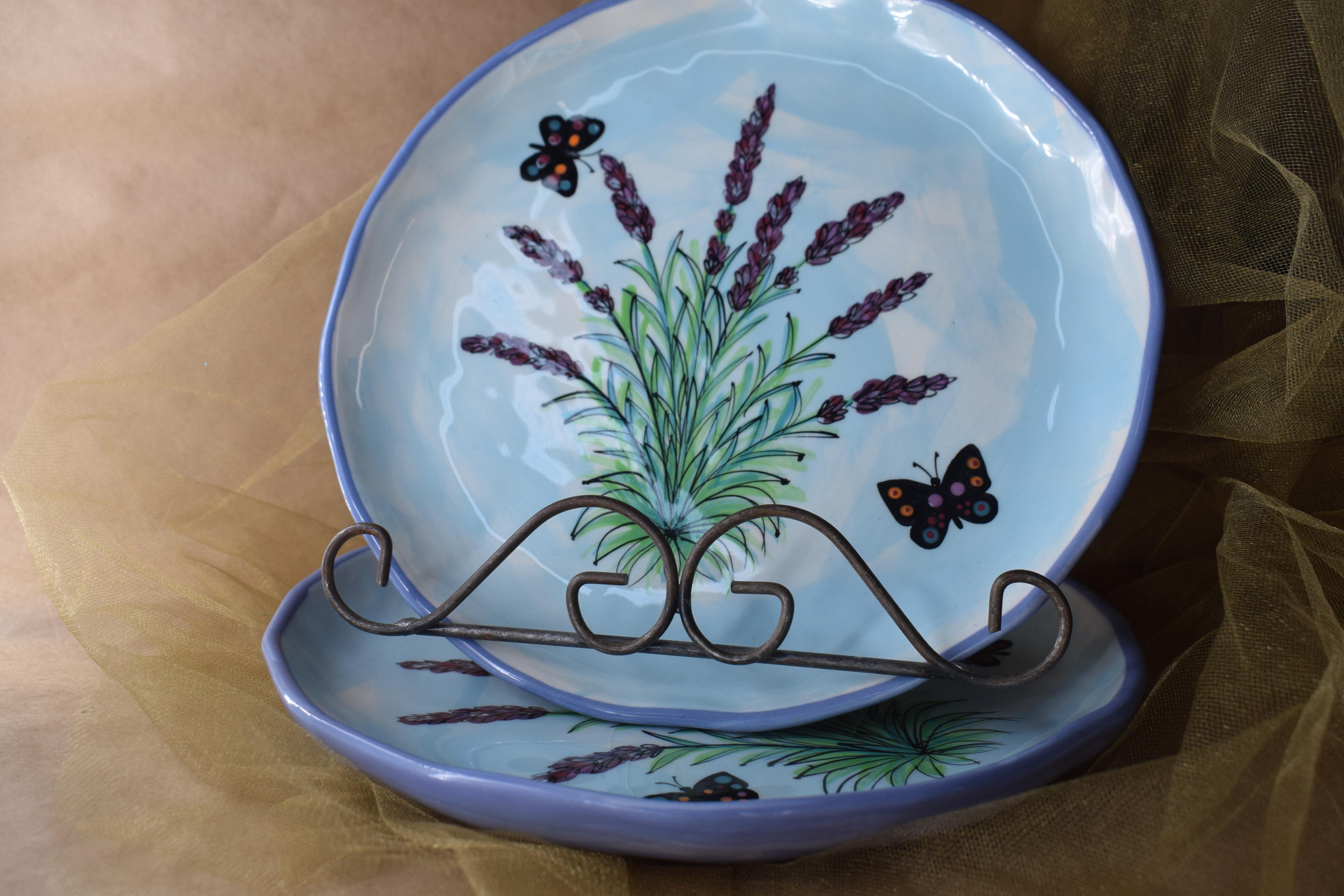 "(EDP10-EL) 10"" Edged Dinner Plate-English Lavender"