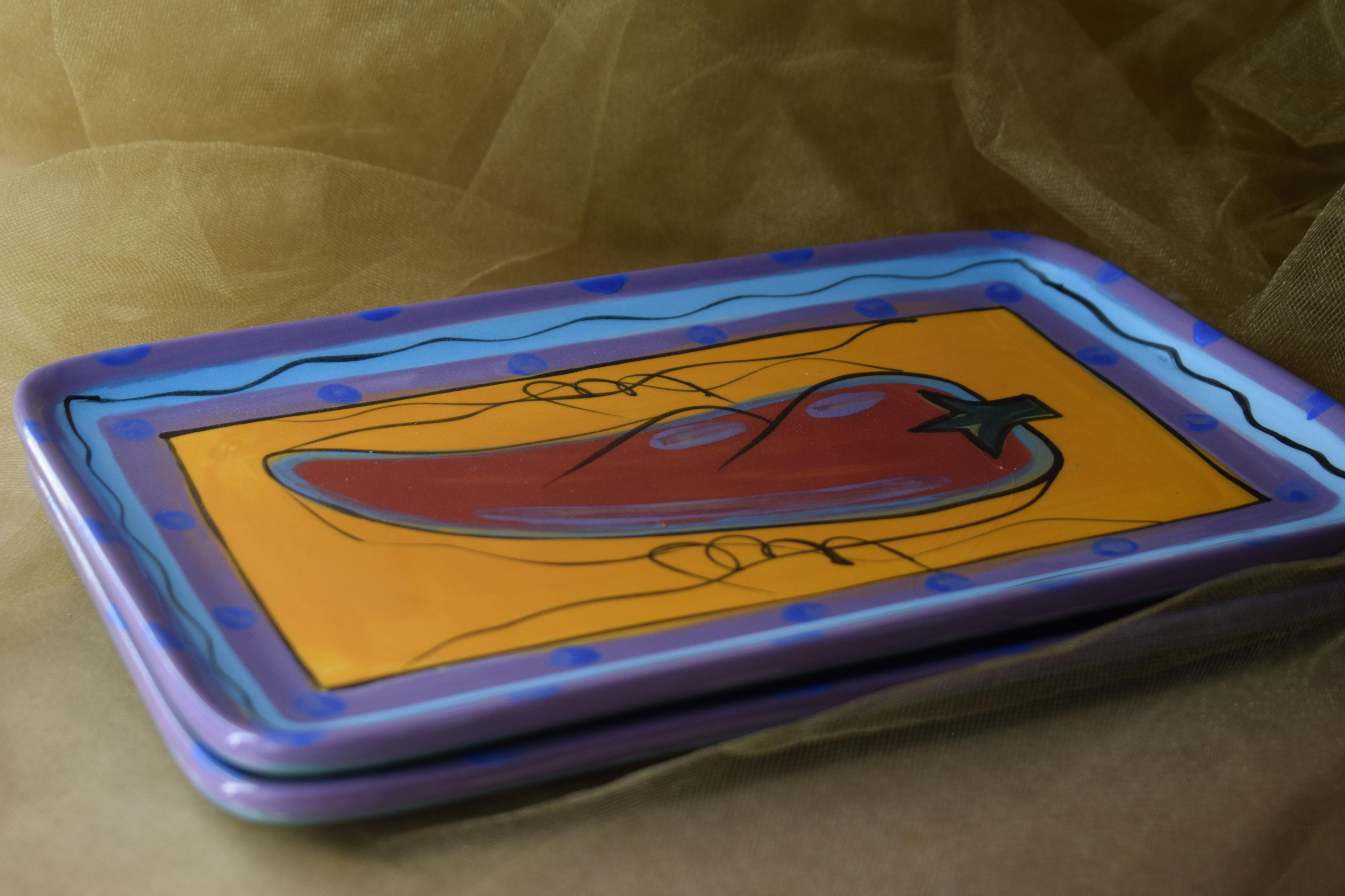 "(RP06-CP) 10"" Rectangular Plate- Chile Pachanga"