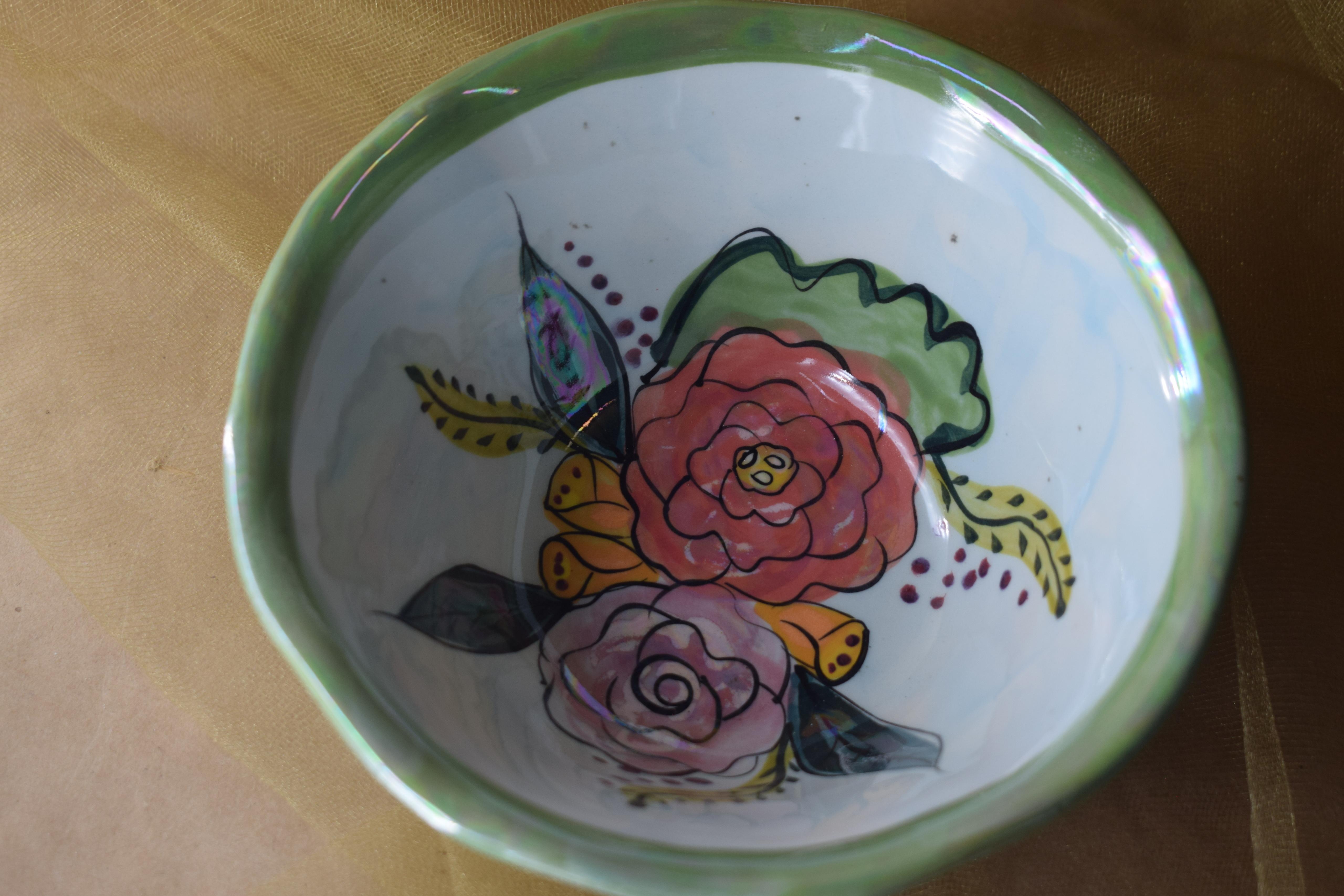 (DCB06-JF) Deep Cereal Bowl- Jenna Floral