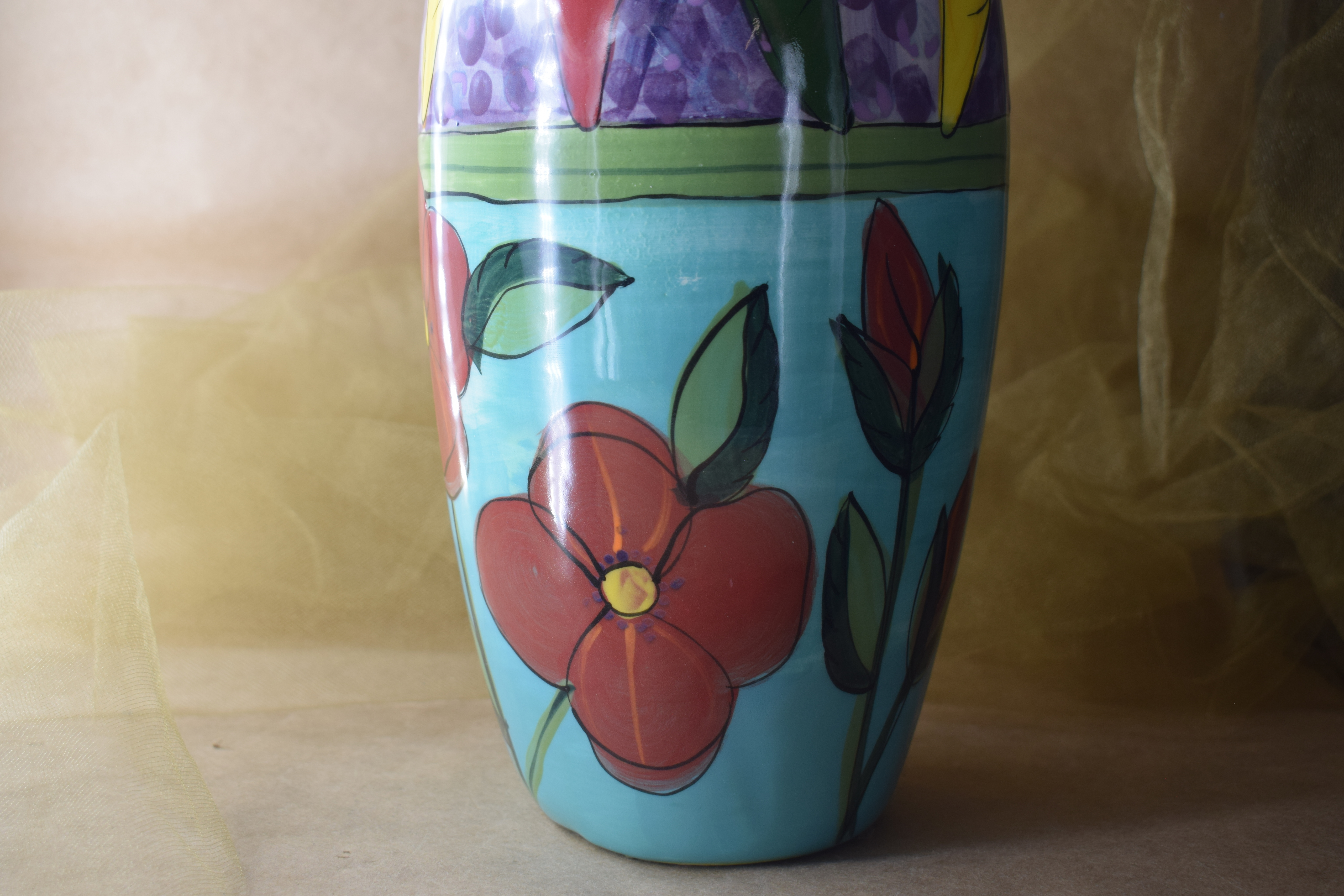 (TV04-CR) Tall Vase- Chile Rojo