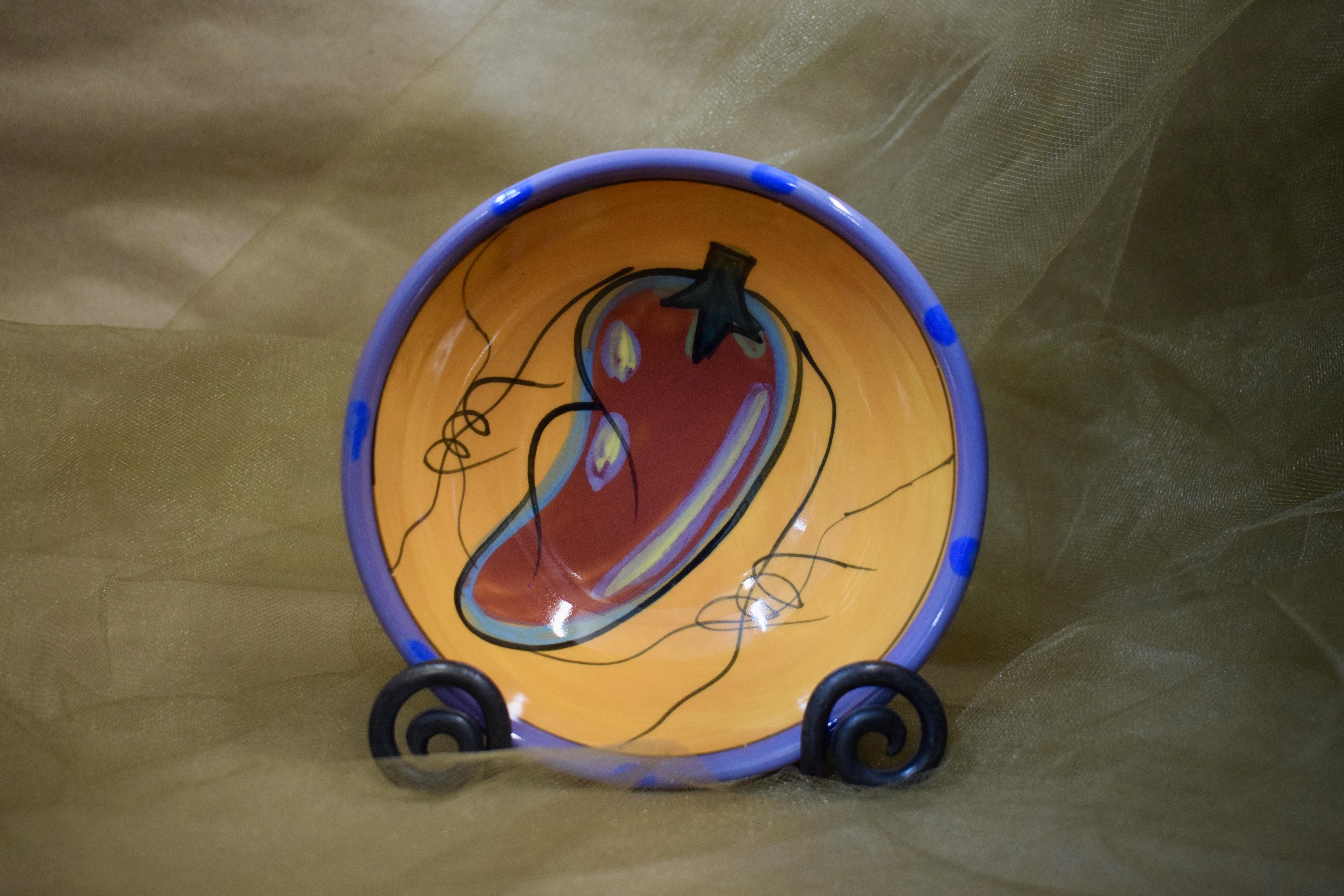 (TFB05-CP) Three Footed Bowl- Chile Pachanga