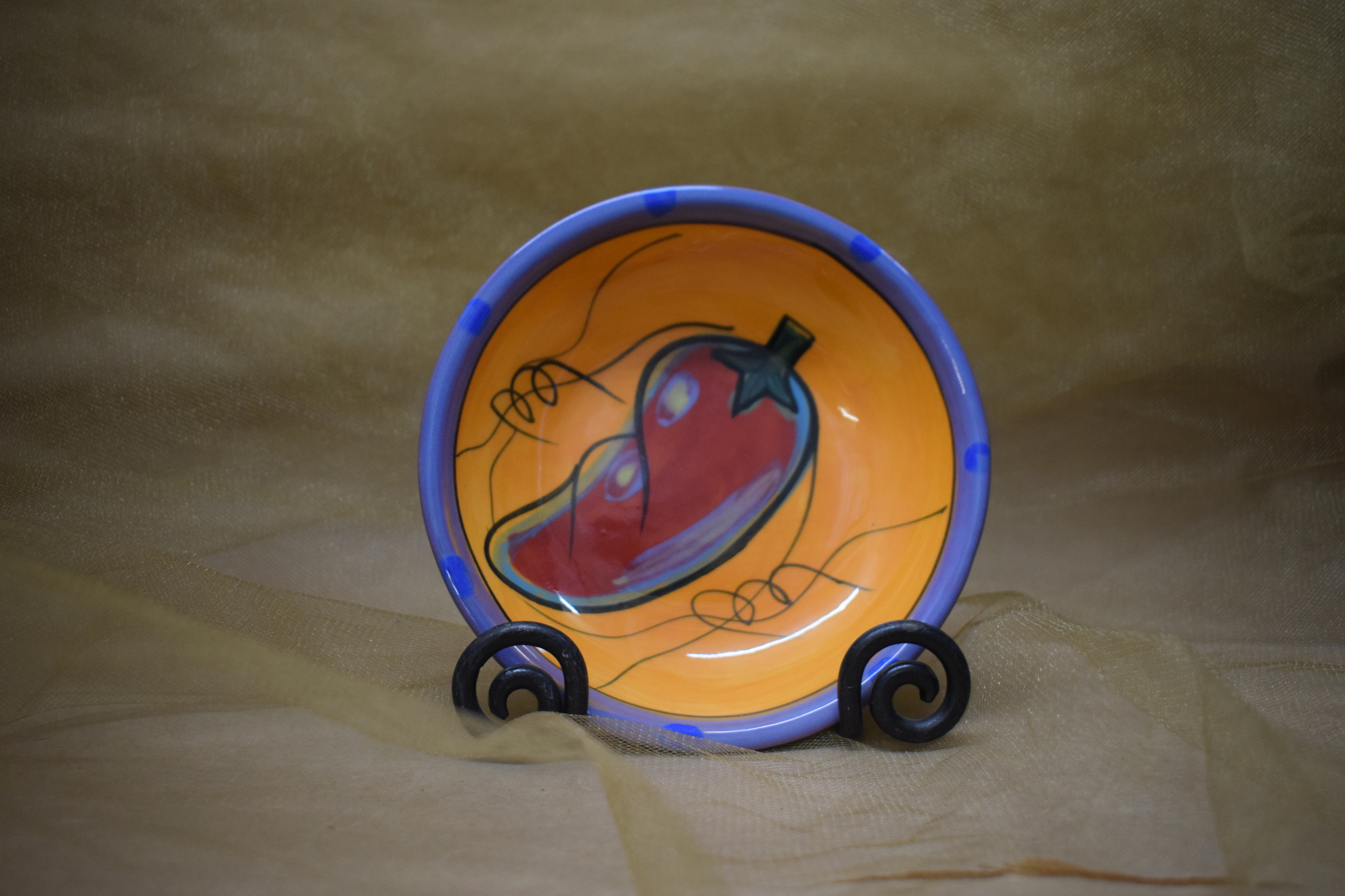 "(SDB05-CP) 5"" Small Dipping Bowl- Chile Pachanga"