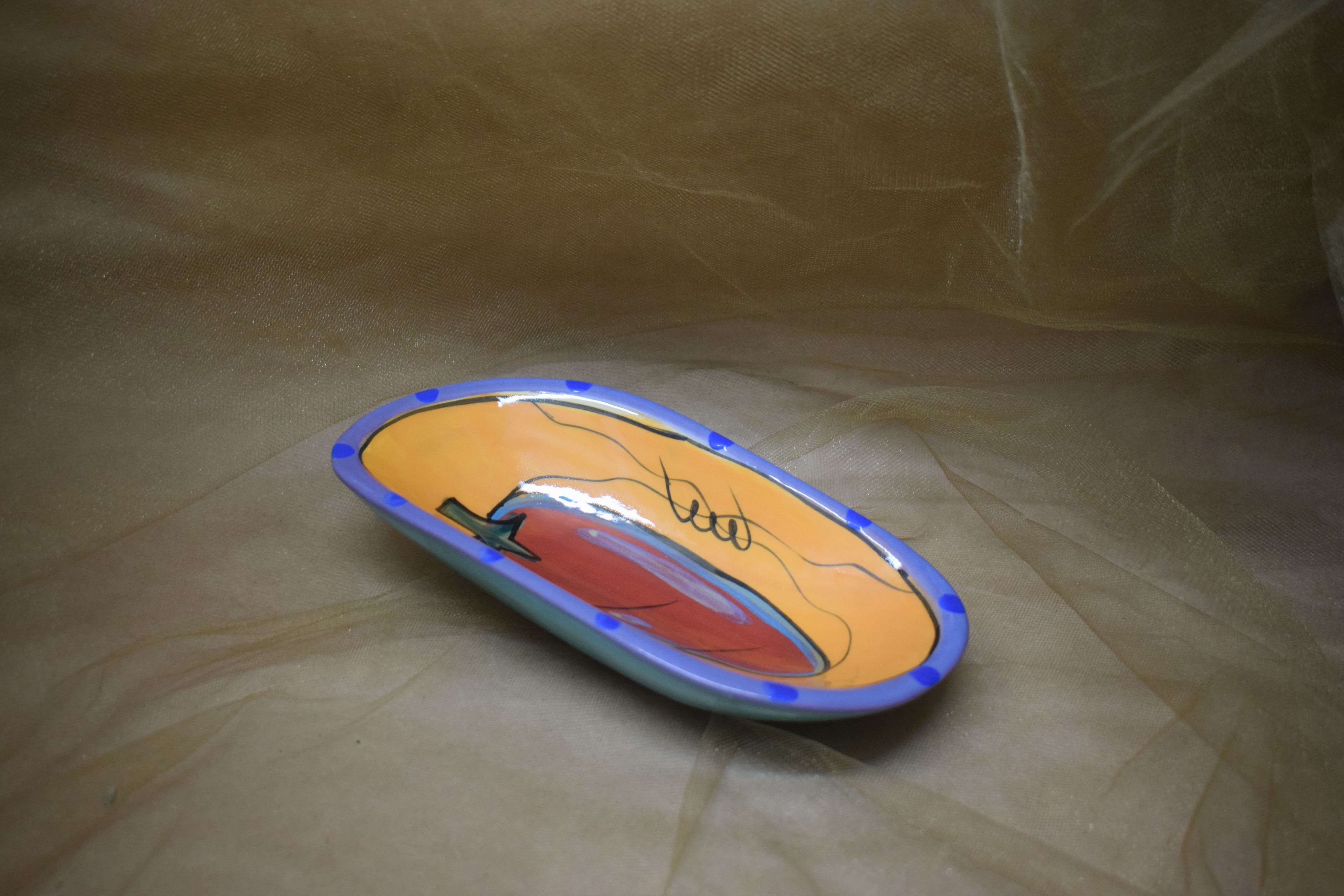"(SD07-CP) 7"" Soap Dish- Chile Pachanga"