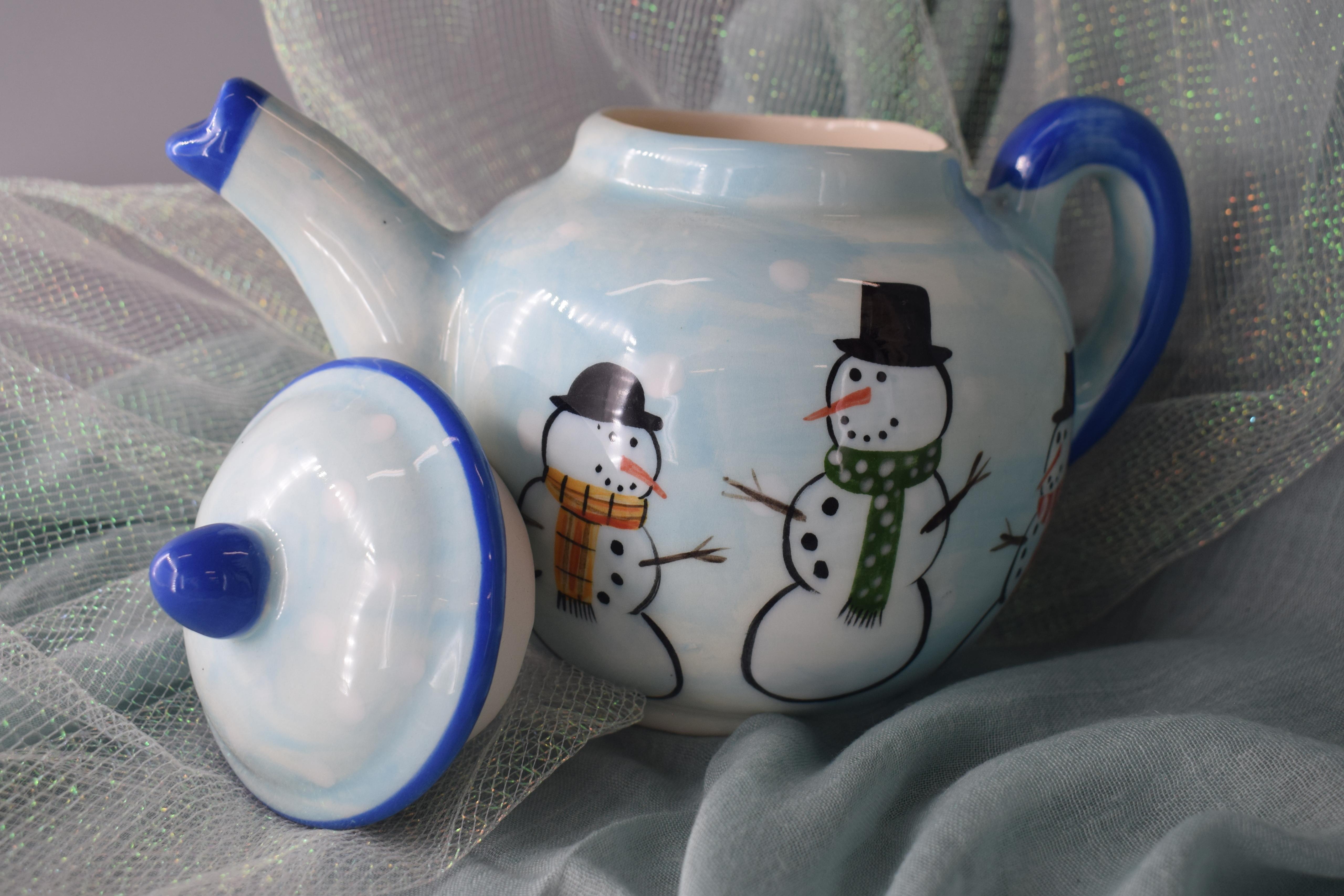 (TP09-SM) Teapot- Snowman