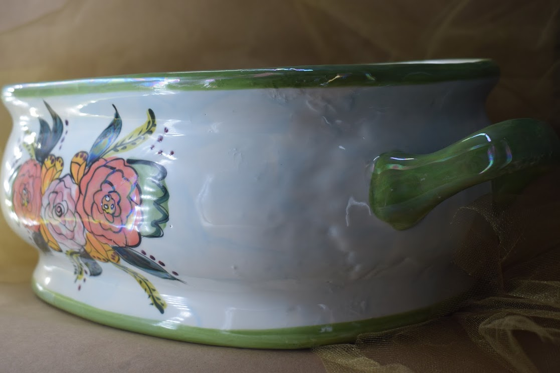 (FB00-JF) Large Open Tureen- Jenna Floral