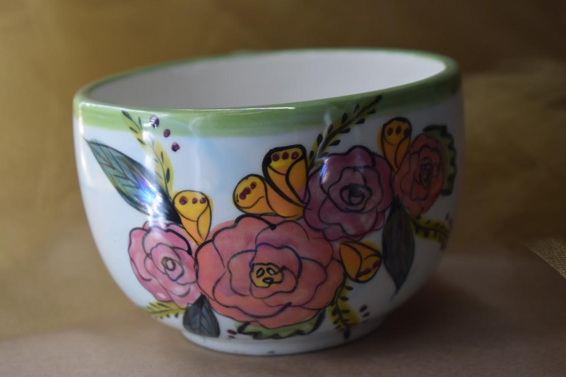 (LM16-JF) 16oz. Latte Mug- Jenna Floral