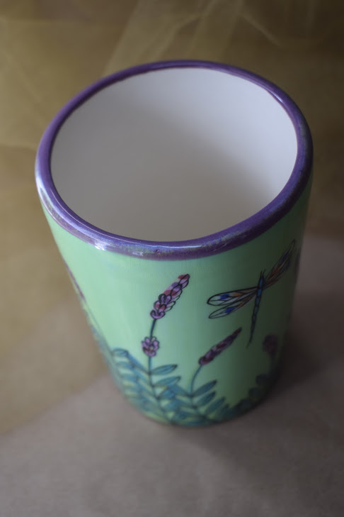 (TB08-GLD) 16oz. Tumbler- Green Lavender with Dragonfly