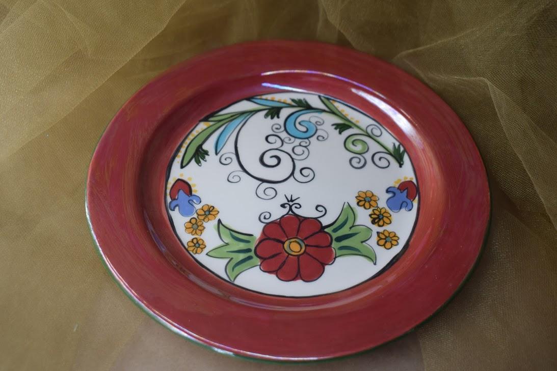 """(DP08-FN) 8"""" Dinner Plate- Feliz Navidad"""