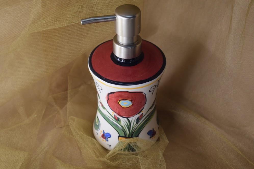 (FSD07-VR) Fancy Soap Dispenser- Venetian Red