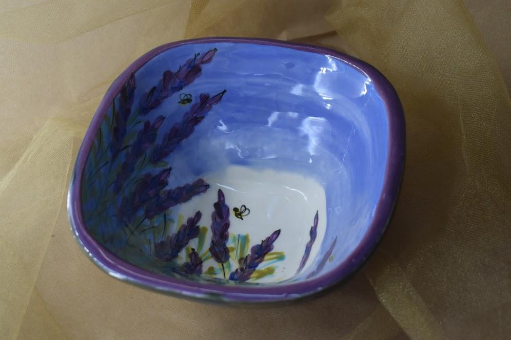 """(SB90-LM) 7"""" Small Square Bowl- Lavender Moon"""