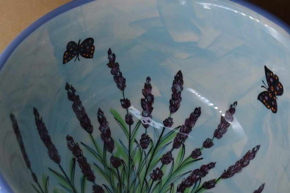 """(DB10-EL) 10.5"""" Deep Bowl- English Lavender"""