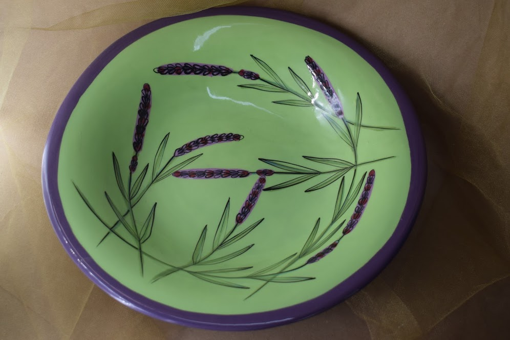 "(LB24-GL) 12"" Large Bowl- Green Lavender"