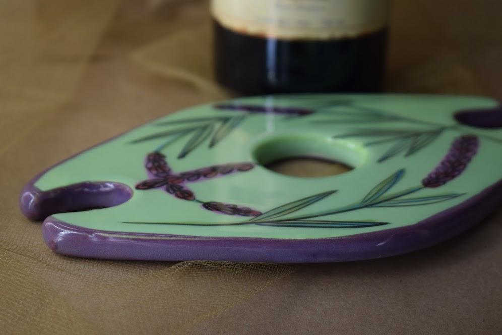 "(BC08-GL) 7"" Bottle Caddy- Green Lavender"