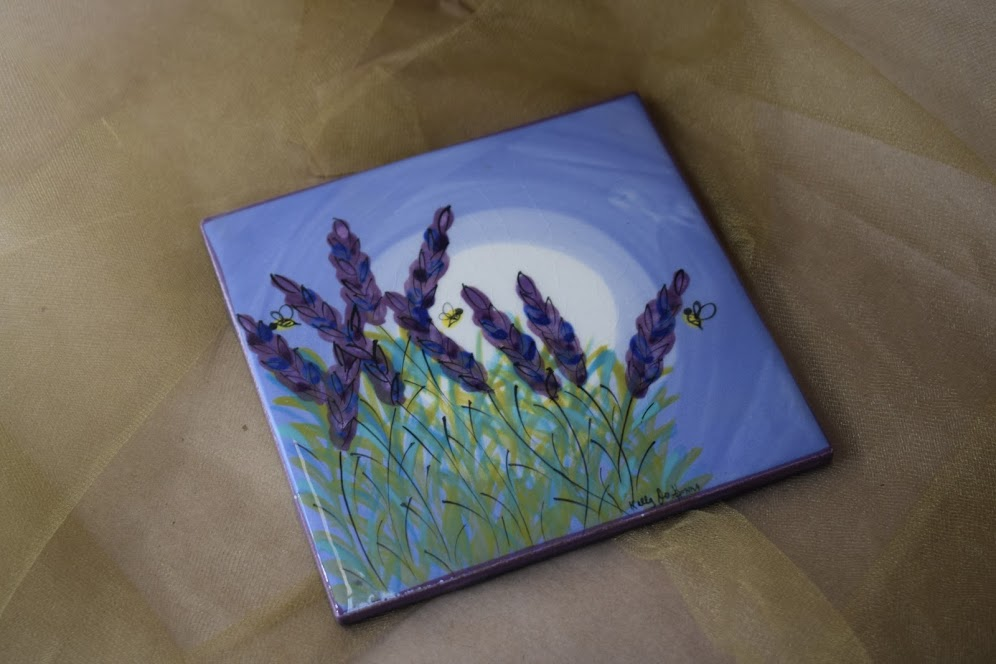 "(ST07-LM) 6"" Square Trivet- Lavender Moon"