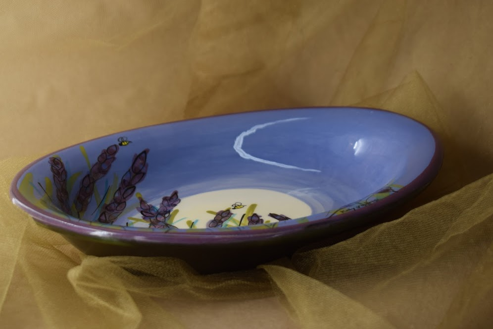 """(CP20-LM) 10"""" Oval Casserole- Lavender Moon"""