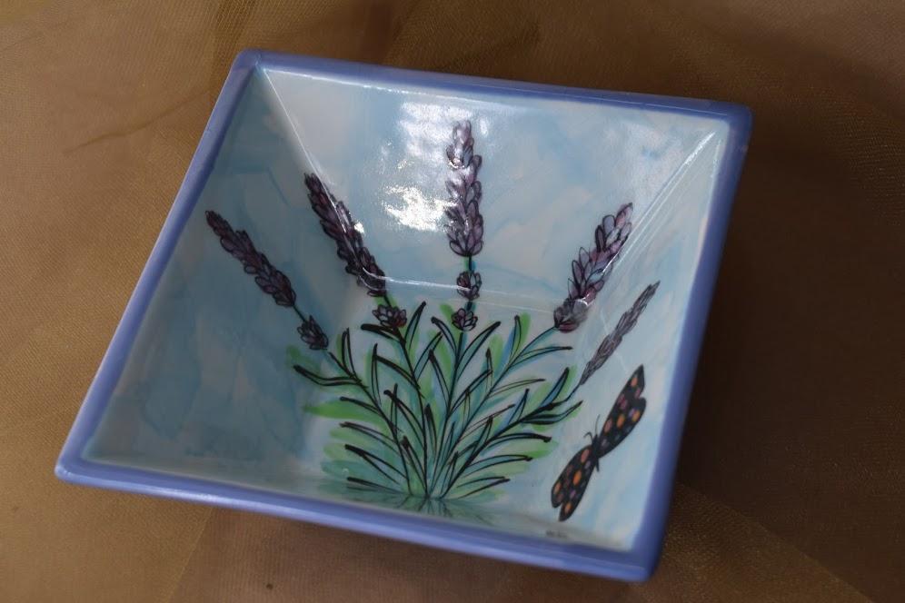 (PSB06-EL) Pointed Square Bowl- English Lavender