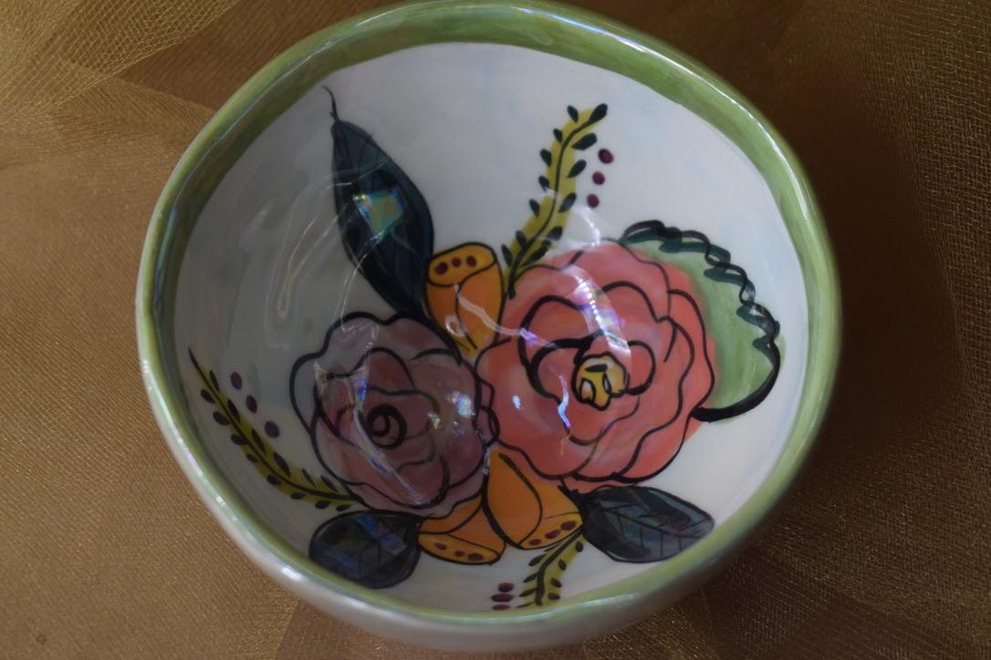 """(PB00-JF) 4"""" Salsa Bowl- Jenna Floral"""