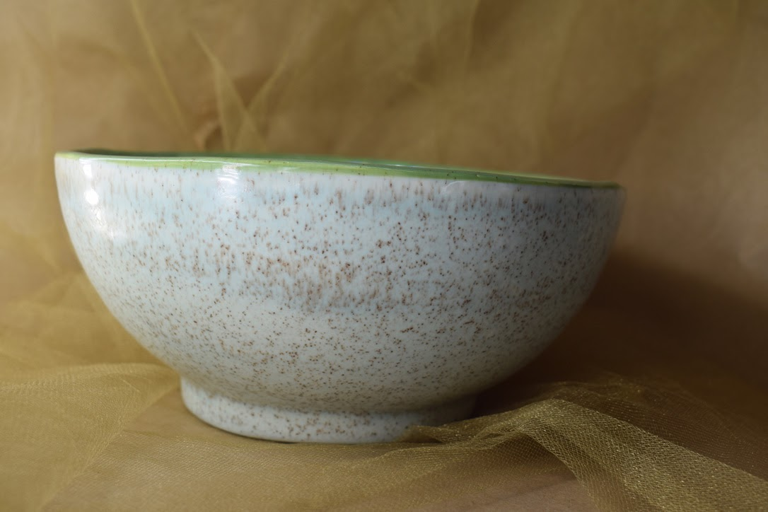 """(MB23-JF) 8"""" Footed Bowl- Jenna Floral"""