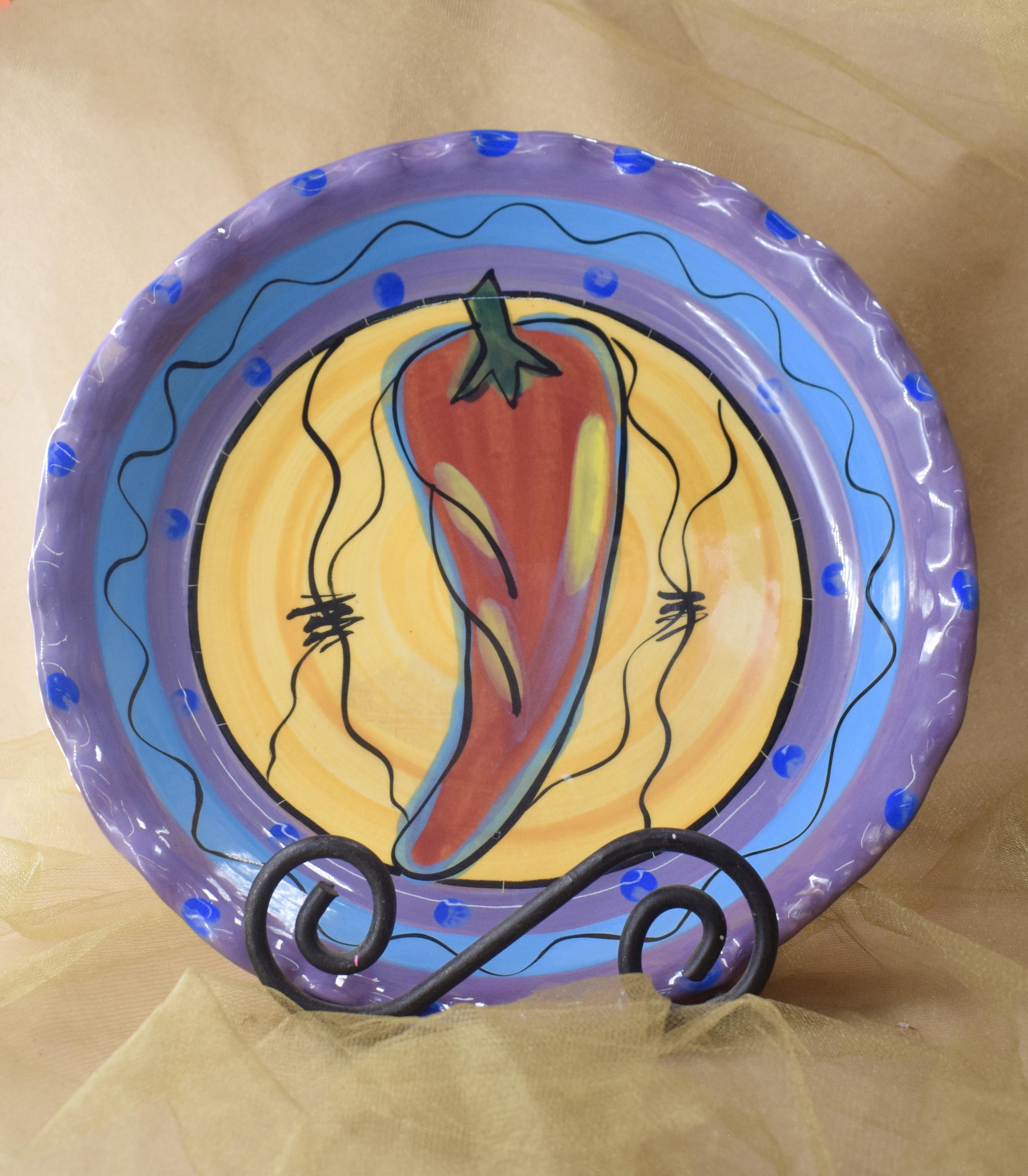 """(RPP11-CP) 10"""" Pie Plate- Chile Pachanga"""