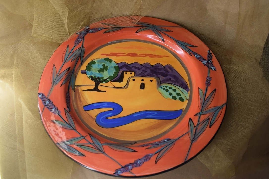 "(DP14-LR) 14"" Charger Plate- Los Ranchos"