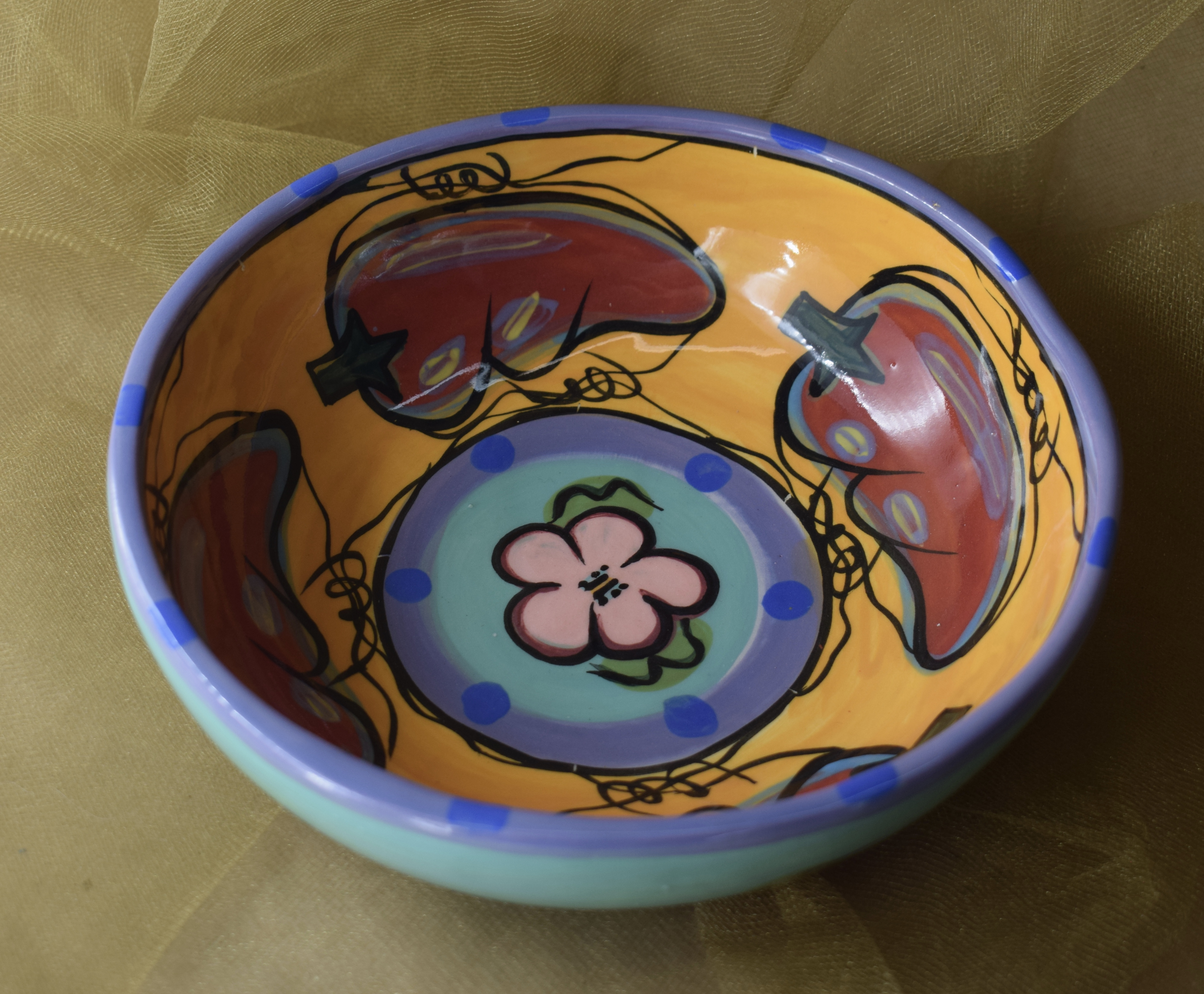 "(CB11-CP)7"" Cereal Bowl - Chile Pachanga"