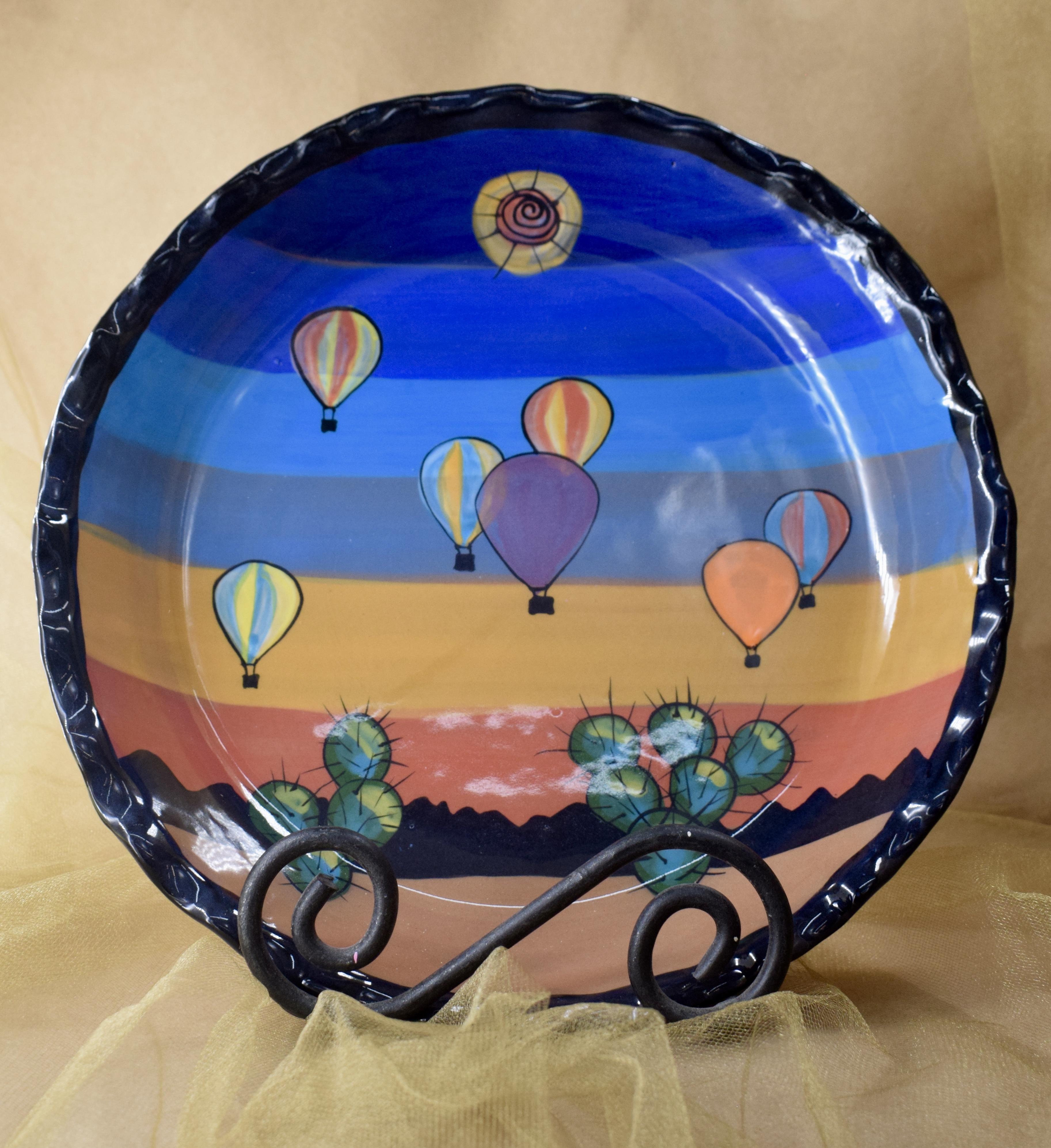 """(RPP11-BB) 10"""" Pie Plate-Blue Balloon"""
