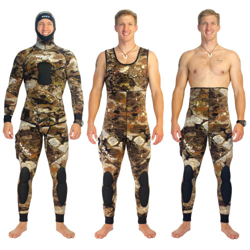 Yamamoto 3D Reef Camo 2 Piece Open Cell Wetsuits
