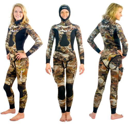 Women's Yamamoto 3D Reef Camo 2 Piece Open Cell Wetsuits