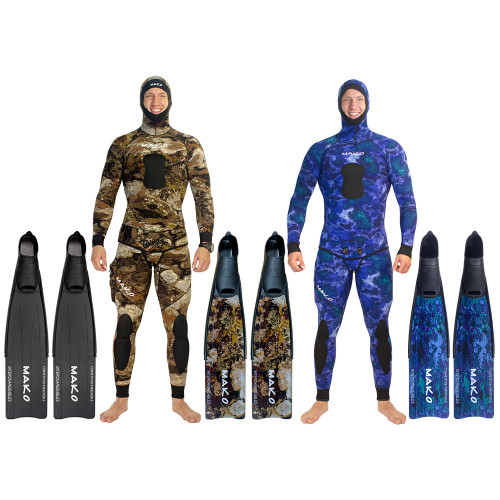 Men's Competition Freediver II Fins with INTERCHANGEABLE BLADES