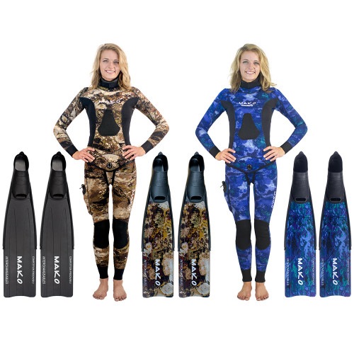 Women's Competition Freediver II Fins with INTERCHANGEABLE BLADES