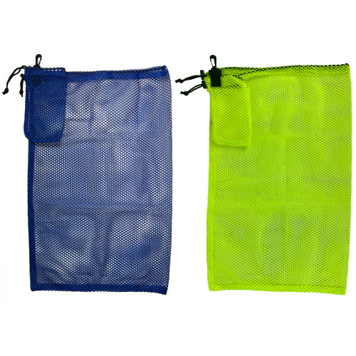 These mesh collection bags are perfect for travel as they lack the metal handles/closure and can be balled up in the palm of your hand and easily stored in your luggage for storage