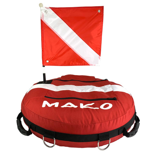 The MAKO Freedive Training Competition Float is a professional grade freedive training buoy, designed by and made for professional freedive instructors and freedive competitors.
