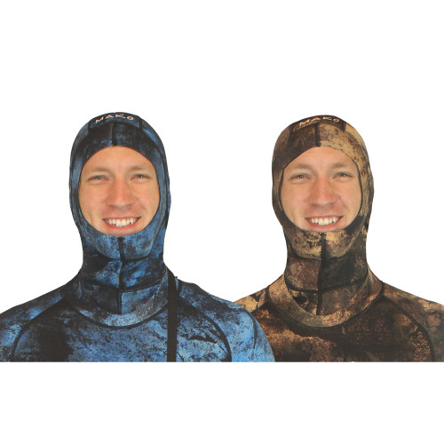 This is the ultimate warm water spearfishing wetsuit hood for both blue water hunting and reef hunting