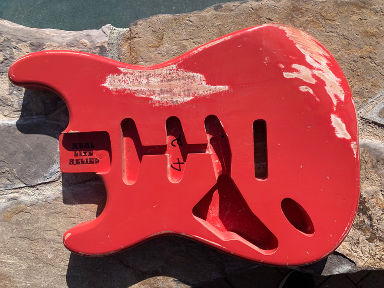 Real Life Relics S Body Left Hand Aged Fiesta Red Nitro Lacquer Finish
