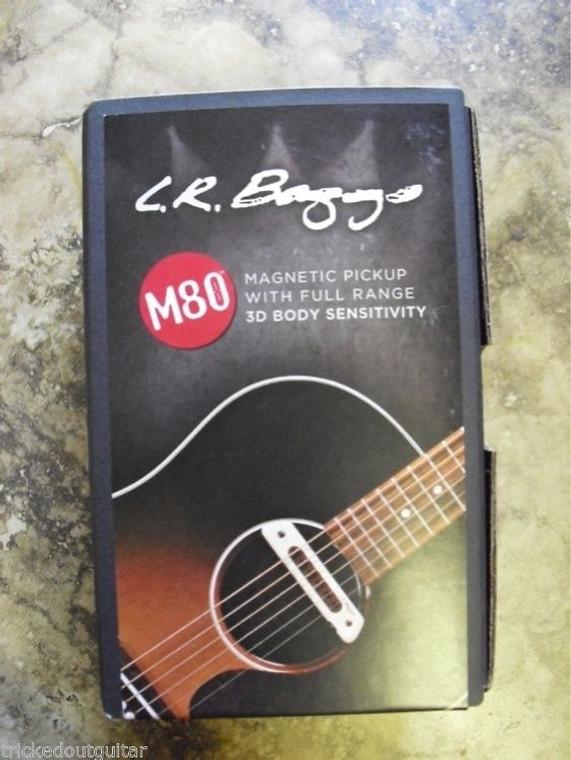 LR Baggs M80 Magnetic Soundhole Pickup Full Range 3D Body Sensitivity (incl. Fender Patch Cable)