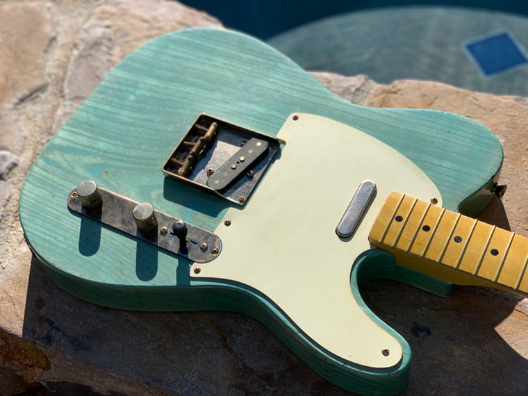 Real Life Relics Custom Shop Loaded T Body Carribean Blue Nitro Lacquer Seymour Duncan Pickups