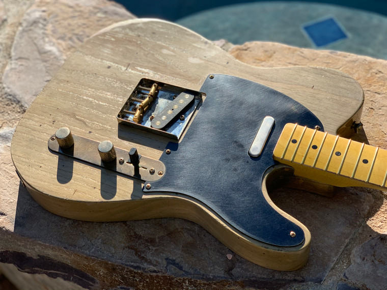 Real Life Relics Custom Shop Loaded Telecaster Body Driftwood Nitro Lacquer Seymour Duncan Pickups
