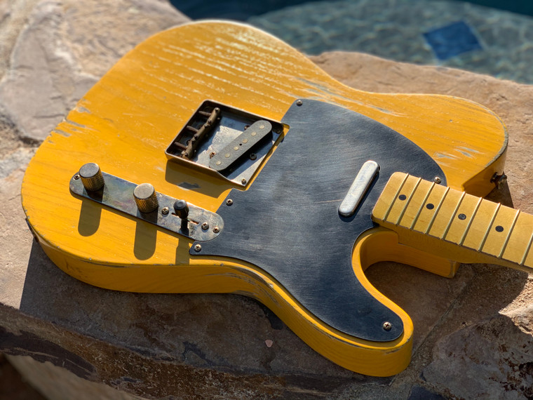 Real Life Relics Custom Shop Loaded Telecaster Body Butterscotch Nitro Lacquer Seymour Duncan Pickups